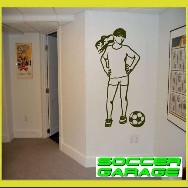 Soccer Graphic Wall Decal - model SoccerST155