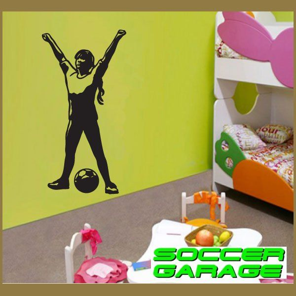 Soccer Graphic Wall Decal - model SoccerST159