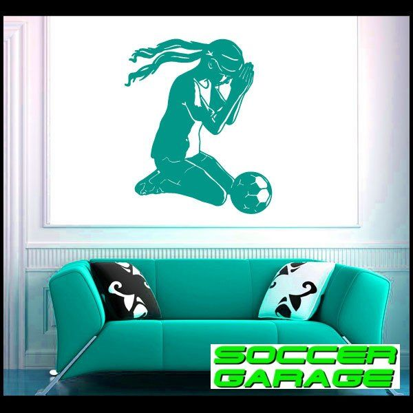 Soccer Graphic Wall Decal - model SoccerST167