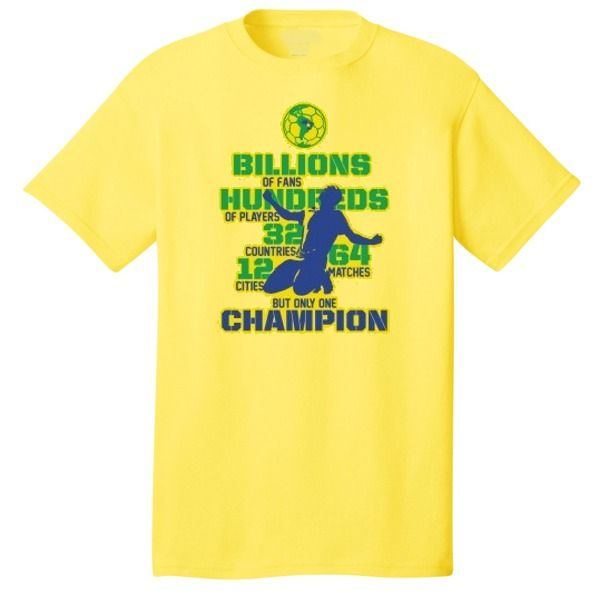 Brazil One Champion World Cup Soccer T-Shirt - model 12335