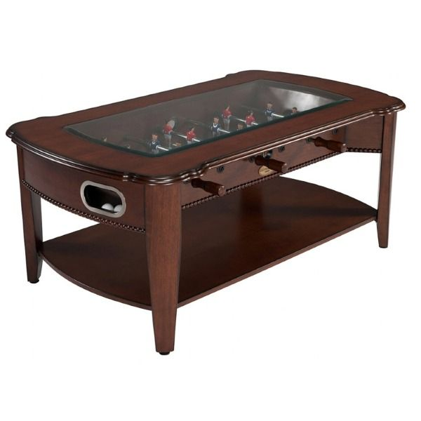 2 in 1 Foosball & Coffee Table in Antique Walnut - model CF-AW