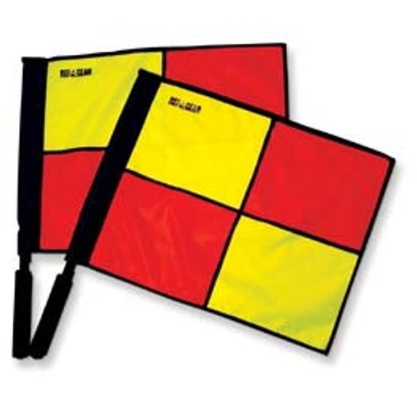 Deluxe Swivel Soccer Referee Linesman Flags - model FCS2