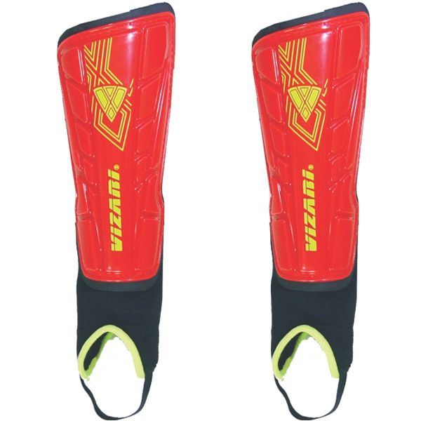 Vizari Malaga Red Soccer Shinguards - model 70097
