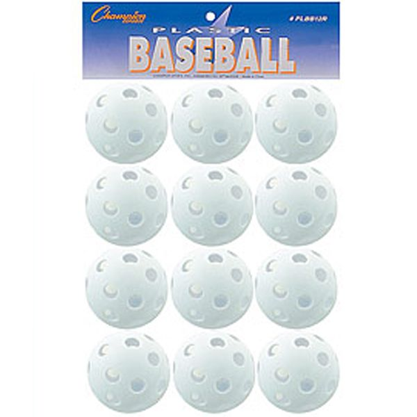 Champion Plastic Training Baseballs - model PLBB12R