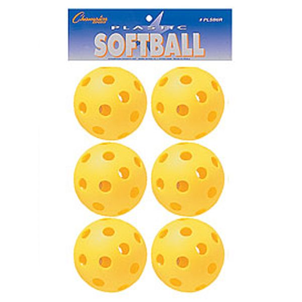 Champion Plastic Training Softballs - model PLSB6R