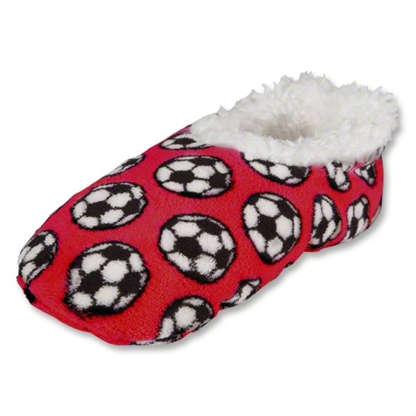 Snoozies Red Soccer Slippers - model 100-S282RB