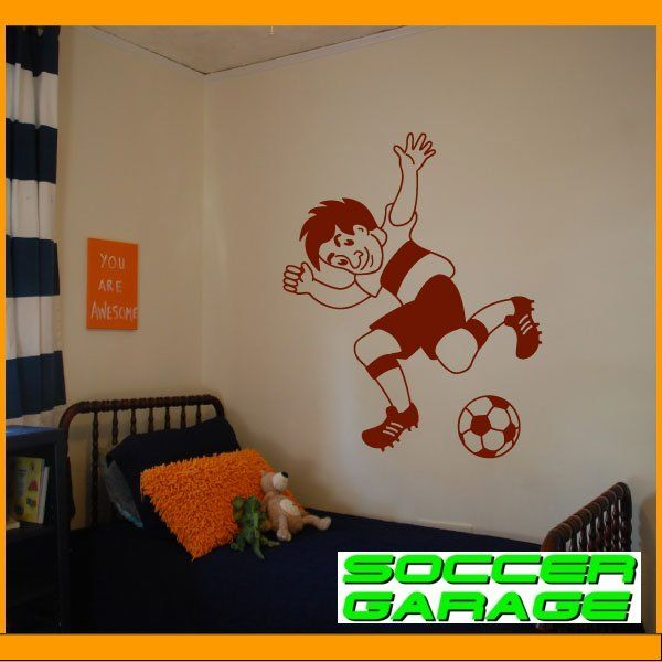 Soccer Graphic Wall Decal - model SoccerMC002