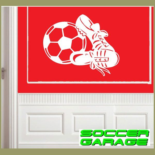 Soccer Graphic Wall Decal - model SoccerMC009