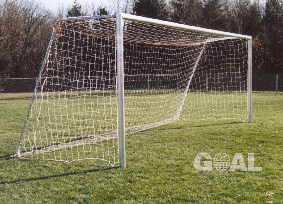 Goal Sporting Goods Official 8x24 Round Unpainted Aluminum Soccer Goals - model SOG1U