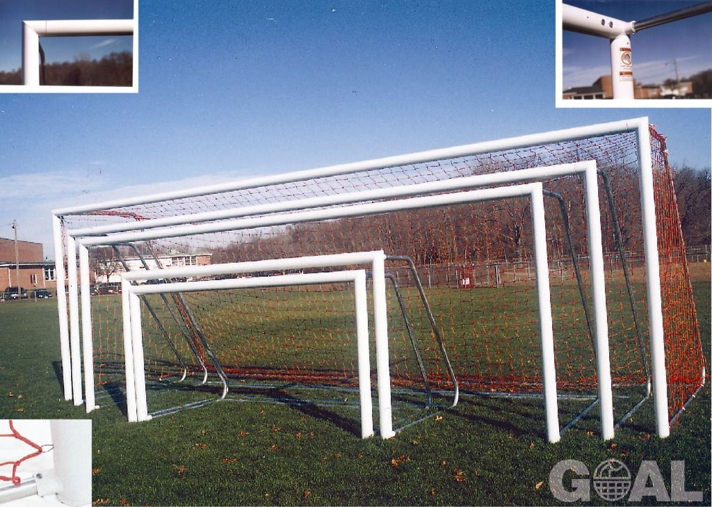Goal Sporting Goods Official 6x18 Round Aluminum Soccer Goal - model SOG618RPP
