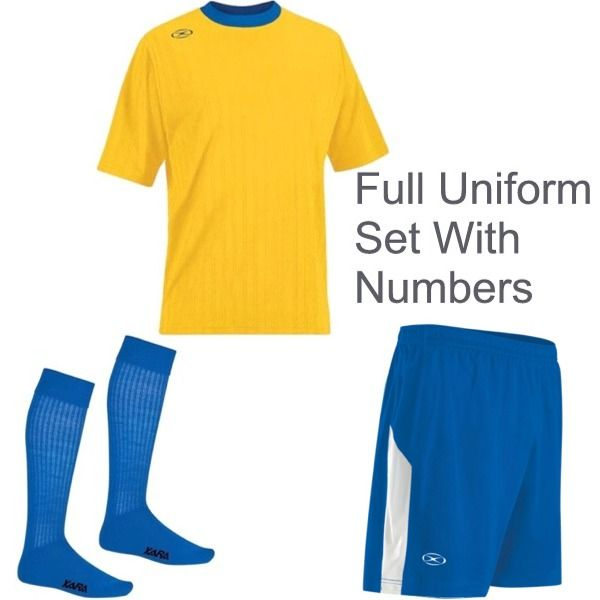 Xara Tranmere Soccer Uniform Package - model XARAKIT1