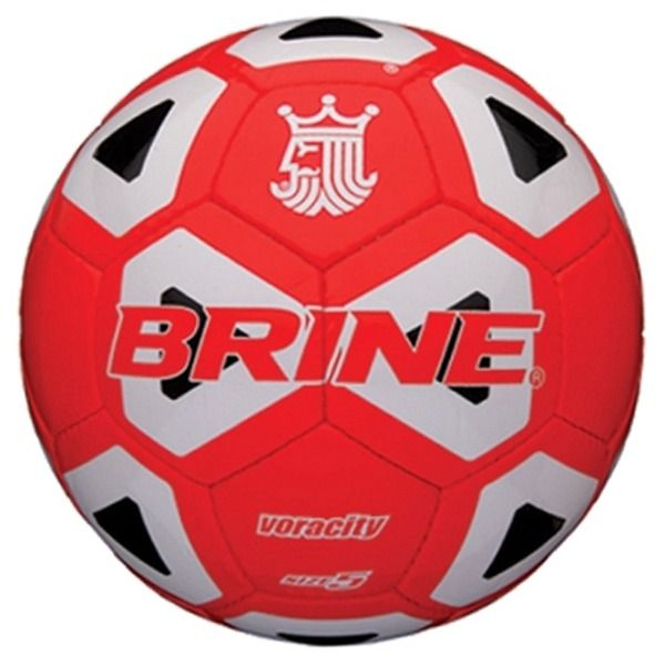 Brine Voracity Red/Black Soccer Ball - model SBVOR4-RBW