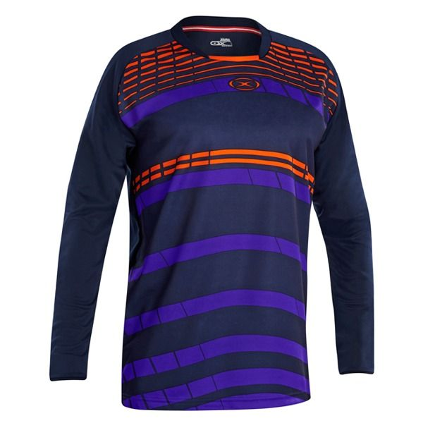 Xara Aggressor Navy/Orange Goalkeeper Jersey - model 5078N