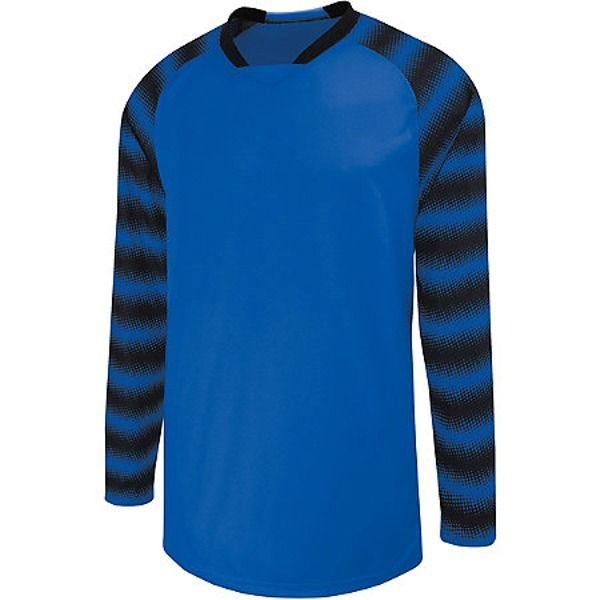 5c1e76a0302 High Five Prism Royal Black Goalkeeper Jersey - model 24360-RB