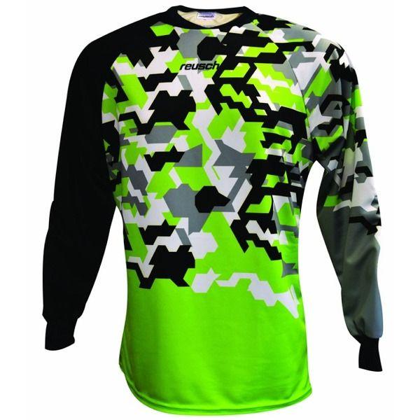1d0611e5456 Reusch Camo Camo Green Gecko Soccer Goalkeeper Jersey - model 3711620-601