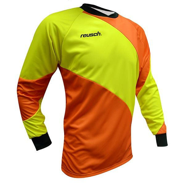 365a08c3106 Reusch Prisma Shocking Orange Safety Yellow Soccer Goalkeeper Jersey -  model 3811701-222