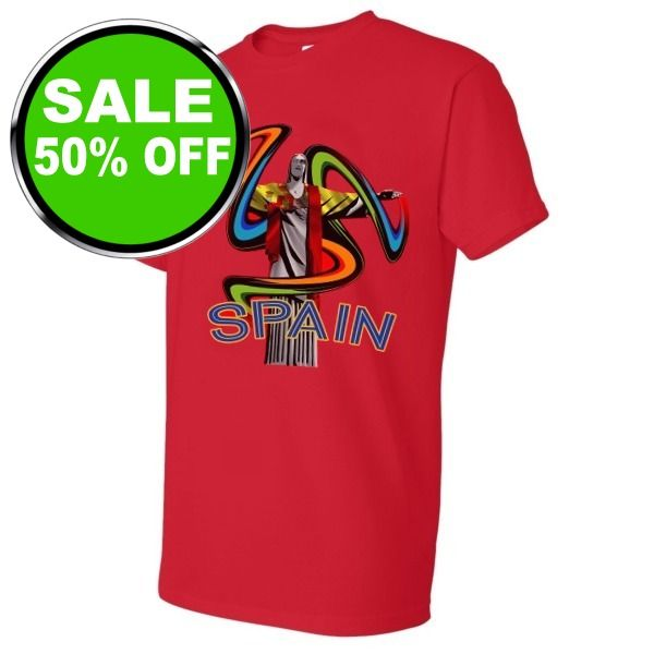 Spain World Cup T-Shirt - model 01406 is $13 (50% off)