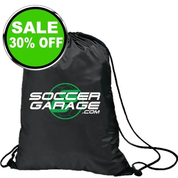 Soccer Garage Black Soccer Nap Sack - model SGNS07 is $7 (30% off)