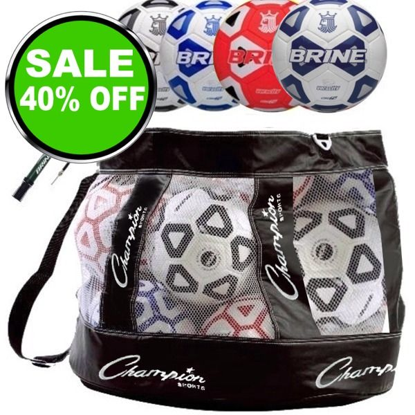 Brine Voracity Soccer Ball Package - model SGVORPAK is $127 (40% off)