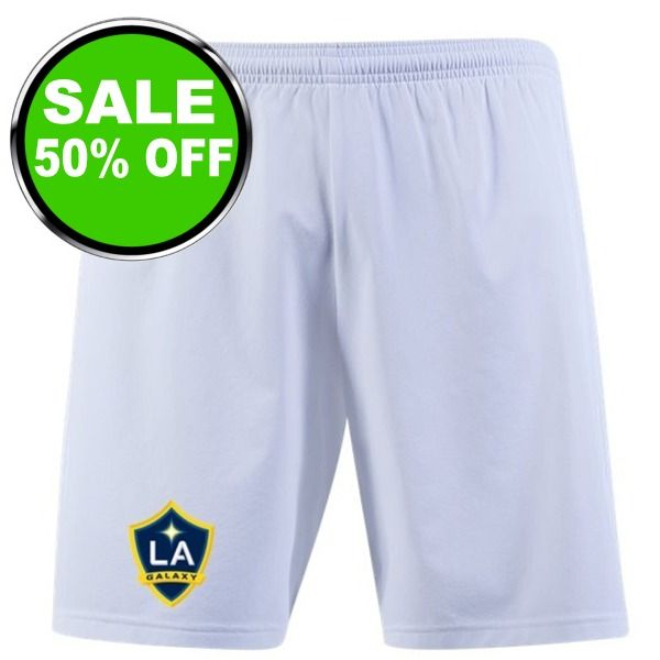 L.A. Galaxy White Shorts - model LAGOCWS1920 is $17 (50% off)