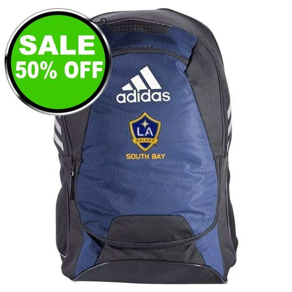 L.A. Galaxy South Bay Soccer Backpack - model LAGSBBP is $37 (50% off)