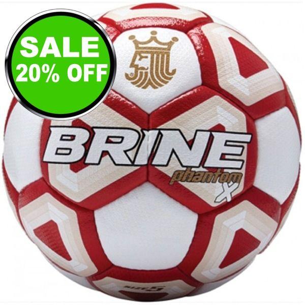 Brine Phantom X Scarlet Soccer Ball - model SBPHTMX7-SCA is $52 (20% off)