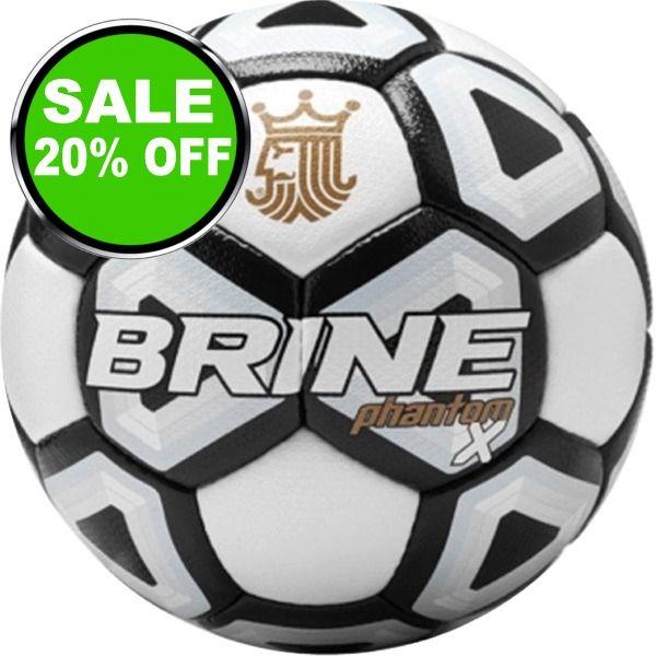 Brine Phantom X Black Soccer Ball - model SBPHTMX7-BK is $52 (20% off)