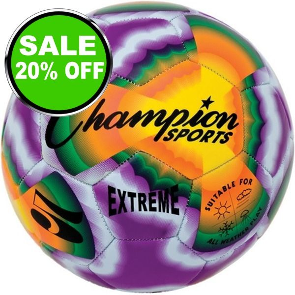 Extreme Tie Dye Soccer Ball - model EXTD is $13 (20% off)