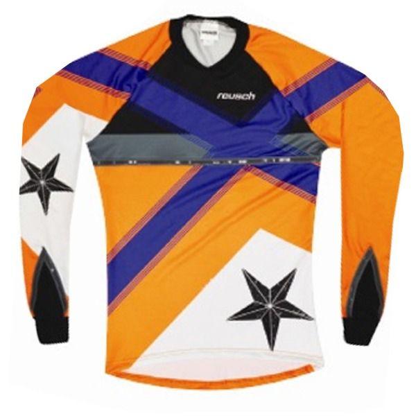 be290c3d3f7 Reusch Cross Star Pro-Fit Shocking Ultramarine Blue Orange Goalkeeper Jersey  - model 3611600G