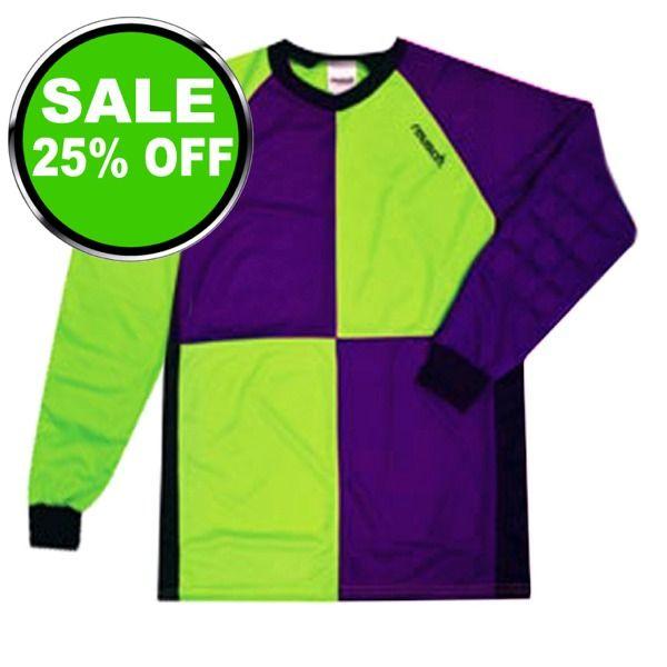 a99646d0f14 Reusch Harliquin Squares Green Purple Soccer Goalkeeper Jersey - model  3511700G