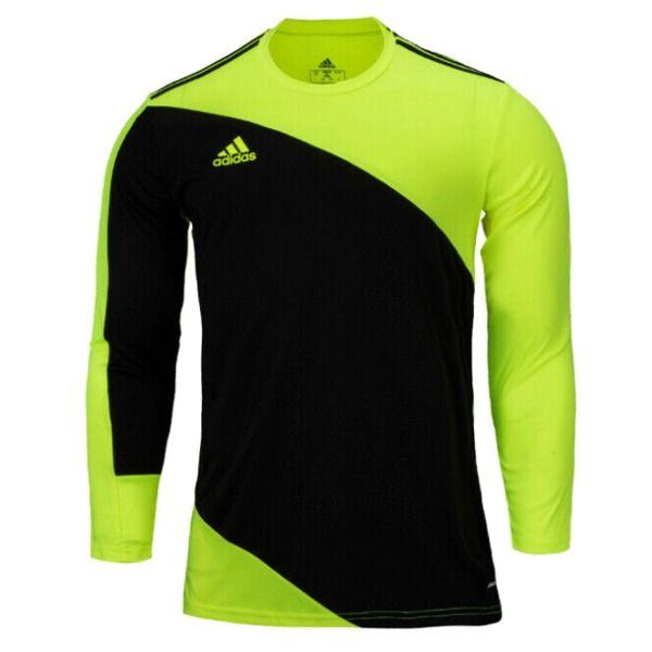 adidas Squadra 21 Solar Yellow/Black Goalkeeper Jersey - model ...